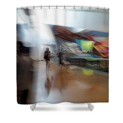 Shower Curtain featuring the photograph Angularity by Alex Lapidus