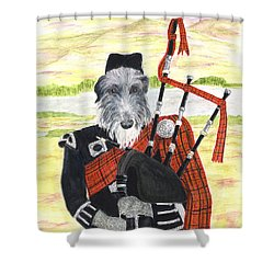Angus The Piper Shower Curtain