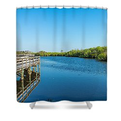 Anhinga Trail Boardwalk, Everglades Shower Curtain