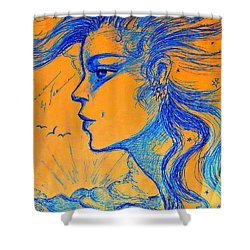 Anima Sunset Shower Curtain by Leanne Seymour