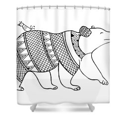 Animal Bear Shower Curtain