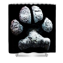 Animal Lovers - South Paw Shower Curtain by Sharon Cummings