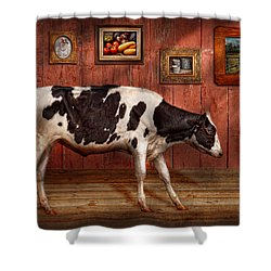 Animal - The Cow Shower Curtain by Mike Savad