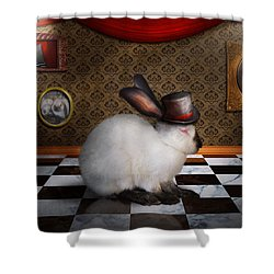 Animal - The Rabbit Shower Curtain by Mike Savad
