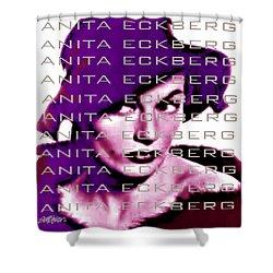 Anita Eckberg In Wine Shower Curtain by Seth Weaver