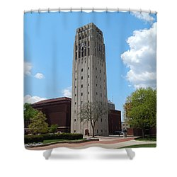 Ann Arbor Michigan Clock Tower Shower Curtain by Phil Perkins