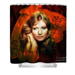 Anna German Shower Curtain by Mo T