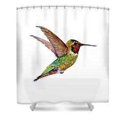 Anna Hummingbird Shower Curtain