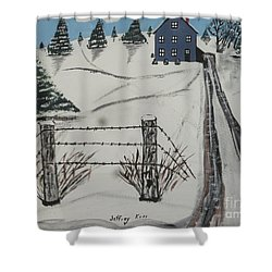 Anna Koss Farm Shower Curtain by Jeffrey Koss
