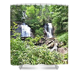 Anna Ruby Falls - Georgia - 1 Shower Curtain