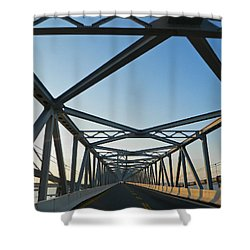Annapolis Bay Bridge At Sunrise Shower Curtain