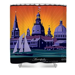 Annapolis Steeples And Cupolas Shower Curtain