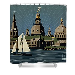 Annapolis Steeples And Cupolas Serenity Shower Curtain
