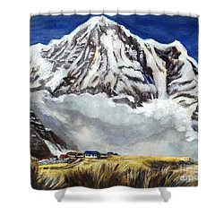 Annapurna L Mountain In Nepal Shower Curtain