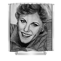 Anne Murray In 1983 Shower Curtain by J McCombie