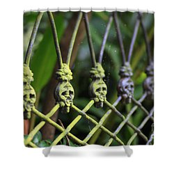 Anne Rice Fence Shower Curtain