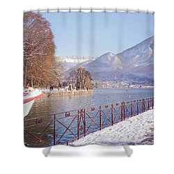 Annecy Fairytale. France Shower Curtain by Jenny Rainbow
