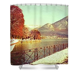 Annecy Golden Fairytale. France Shower Curtain by Jenny Rainbow