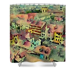 Annecy Rain Shower Curtain by Susan Maxwell Schmidt