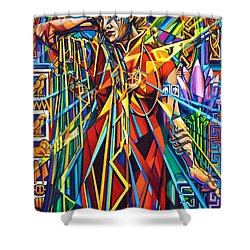 Annelise2 Shower Curtain