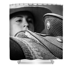 Shower Curtain featuring the photograph Annie's Saddle by Steven Bateson
