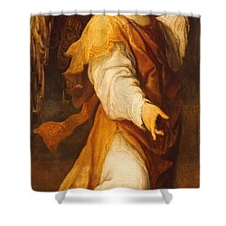 Announcing Angel Shower Curtain by Annibale Carracci