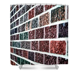Shower Curtain featuring the photograph Another Brick In The Wall by Deena Stoddard