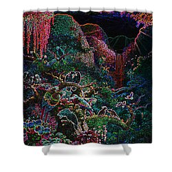 Another Day In Paradise - Digital 1 Shower Curtain