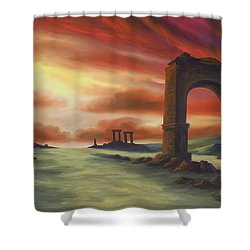 Another Fallen Empire Shower Curtain