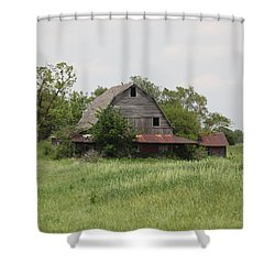 Another Missouri Barn Shower Curtain