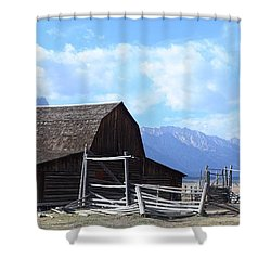 Another Old Barn Shower Curtain by Kathleen Struckle