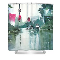 Another Rainy Day Shower Curtain by Anil Nene