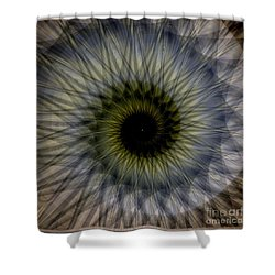 Another Spiral  Shower Curtain by Elizabeth McTaggart