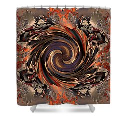Another Swirl Shower Curtain