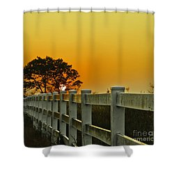 Another Tequila Sunrise Shower Curtain by Robert Frederick