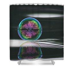 Across The Universe Shower Curtain by Cathie Douglas