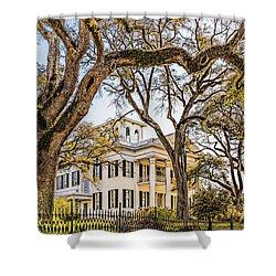Antebellum Mansion Shower Curtain