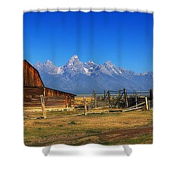 Antelope Barn Shower Curtain