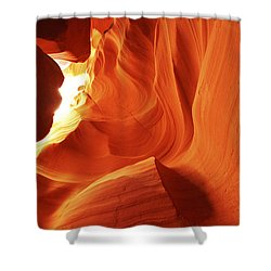 Shower Curtain featuring the photograph Antelope Canyon In Winter Light 1 by Alan Vance Ley