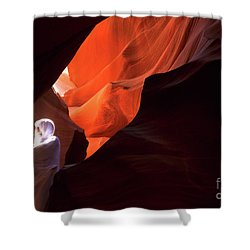 Antelope Canyon Keeper Of The Light Shower Curtain by Bob Christopher