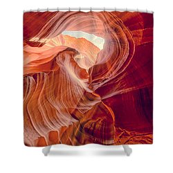 Antelope Canyon Navajo Nation Page Arizona Weeping Warrior Shower Curtain
