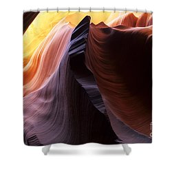 Antelope Canyon Pages Of Time Shower Curtain by Bob Christopher