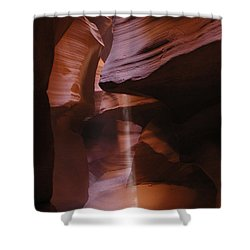 Shower Curtain featuring the photograph Antelope Canyon With Light Beam by Alan Socolik