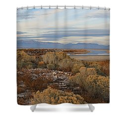 Shower Curtain featuring the photograph Antelope Island - Scenic View by Ely Arsha