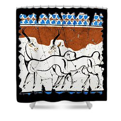 Antelope Of Akrotiri Shower Curtain