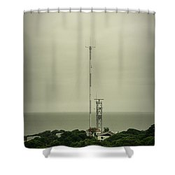 Antenna Shower Curtain by Marco Oliveira