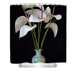 Anthurium Bouquet Shower Curtain by Mary Deal