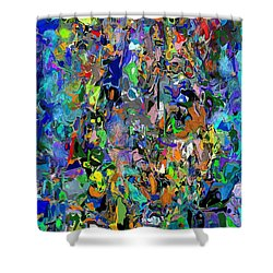 Anthyropolitic 1 Shower Curtain by David Lane