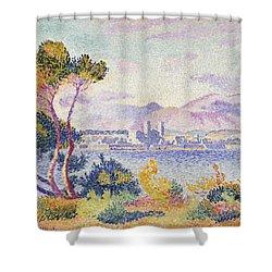 Antibes Afternoon Shower Curtain by Henri Edmond Cross