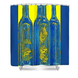 Antibes Blue Bottles Shower Curtain